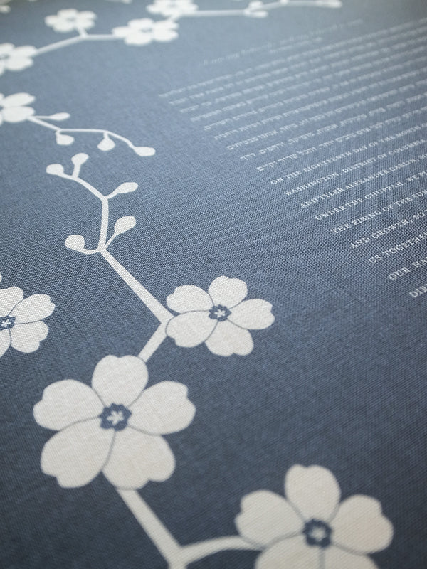 Signature Ketubah Design (Bookcloth) Cherry Blossom Branch