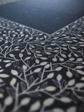Signature Ketubah Design (Bookcloth) Lace Leaves
