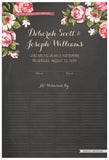Quaker Marriage Certificate - Blooming Peonies (chalkboard charcoal)