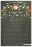 Quaker Marriage Certificate - Flower Garland (chalkboard moss)