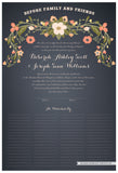 Quaker Marriage Certificate - Flower Garland (slate blue)