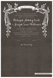 Quaker Marriage Certificate - Wild Flowers (parchment charcoal)