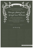 Quaker Marriage Certificate - Wild Flowers (moss)