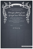Quaker Marriage Certificate - Wild Flowers (slate blue)