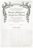 Quaker Marriage Certificate - Wild Flowers (watercolor eggshell)