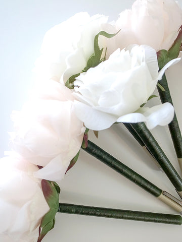 Peony Flower Signature Pen - Free Shipping