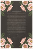 Signature Ketubah Design (Bookcloth) Blooming Roses