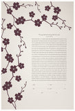 Ketubah Bookcloth Paper - Cherry Blossoms Branch