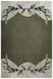 Ketubah Japanese Washi Paper - Green Laurel