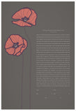 Signature Ketubah Design (Bookcloth) Poppies