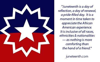 Juneteenth — Let's ALL Celebrate.