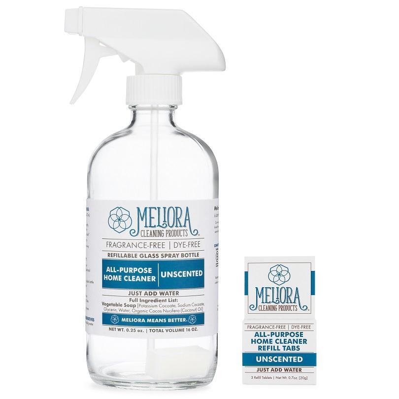 Meliora® Surface Cleaner TABS & Reusable Bottle