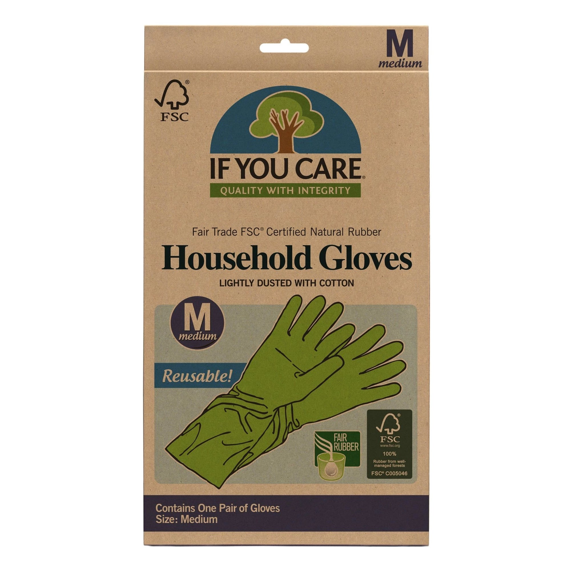 Fair Trade Natural Rubber Gloves