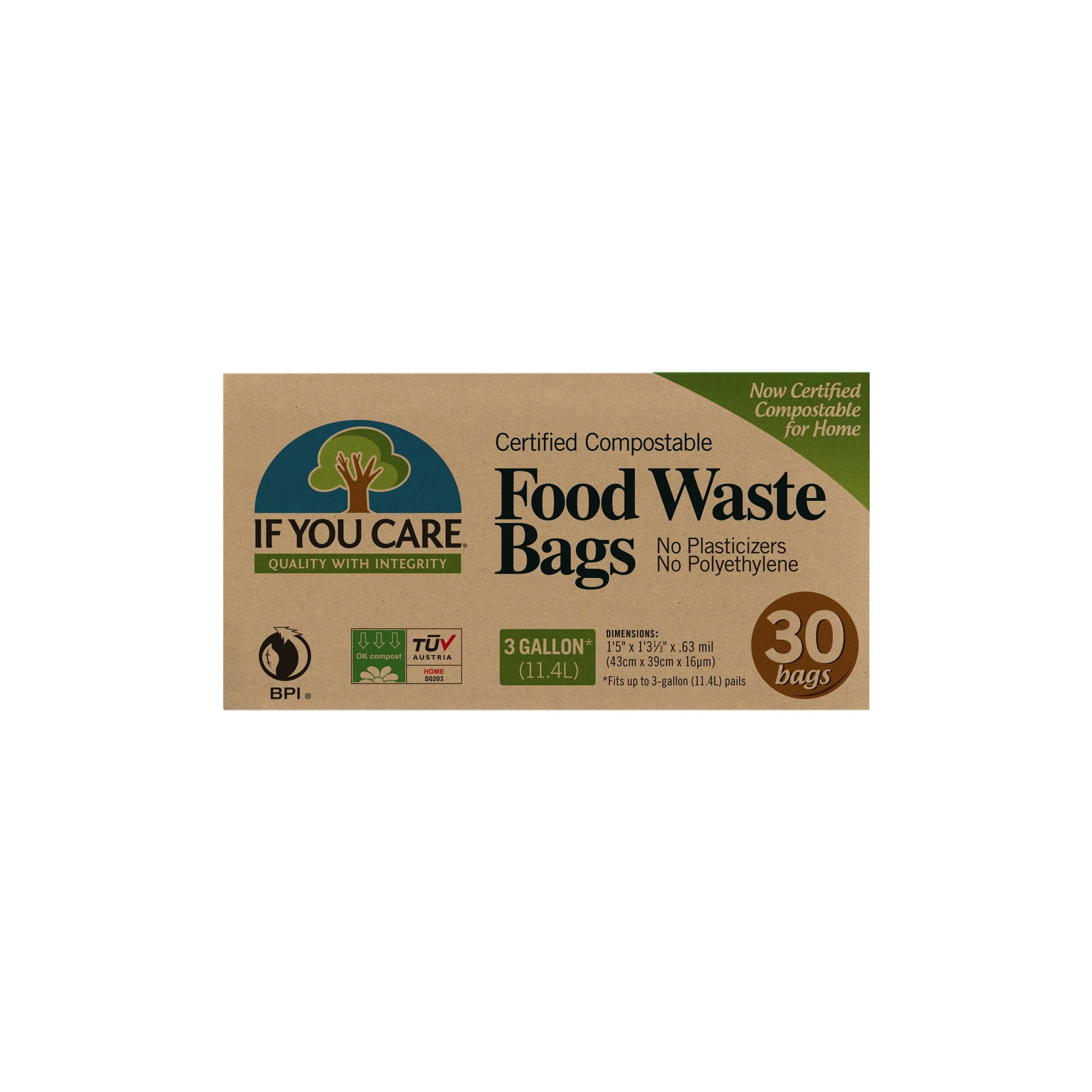 Package of compostable good waste bags