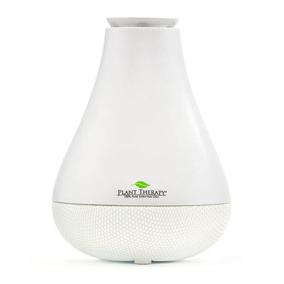 white pear shaped diffuser with mesh bottom