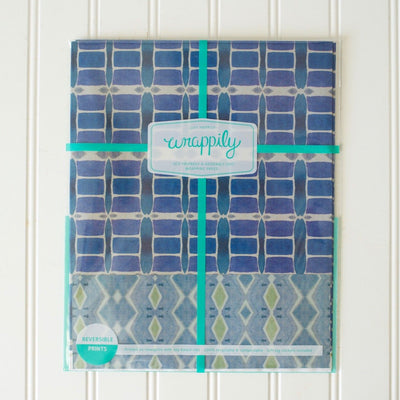 wrappily wrapping paper pack, Riptide blue and greendesign .