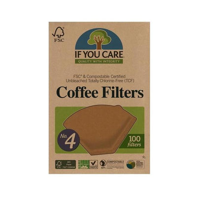 no. 4 coffee filters in package. 100 filters per package
