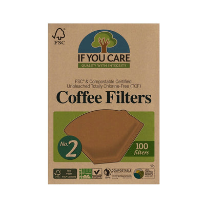 no. 2 coffee filters in package. 100 filters per package