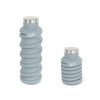 20 oz eco-bottle Stone Grey, left view extended, right view coiled/collapsed