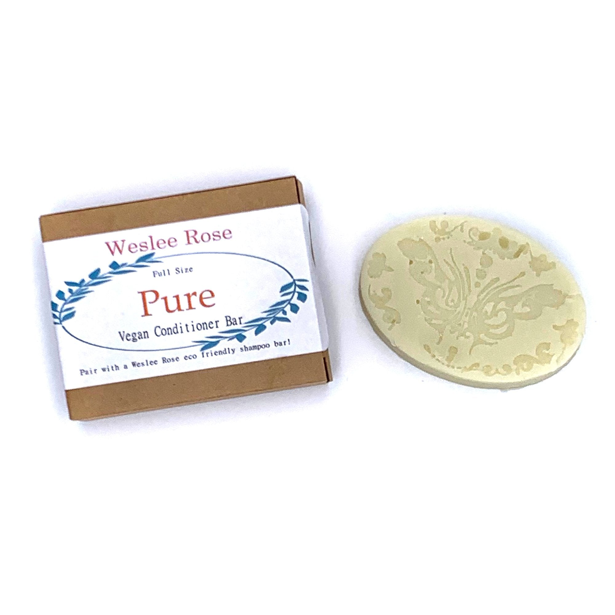 Eco friendly, all natural, conditioner bar soap for a zero waste lifestyle.PURE no added fragrance or scents.