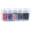 5 packs of reusable cloth facial squares, in plastic