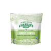 green floral packaging with resealable tab, All natural, eco friendly concentrated laundry powder. 50 loads.
