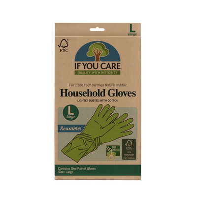 If You Care Fair Trade Natural Rubber Gloves. Size Large