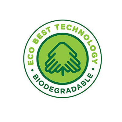 Graphic that reads Eco best technology biodegradable