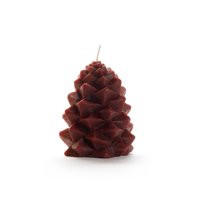 burgundy pinecone candle