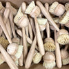 Box of many bamboo handled natural fiber dish brushes