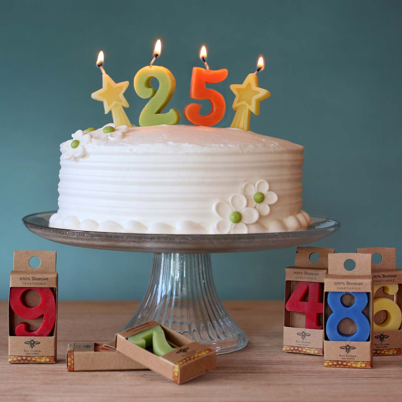 Birthday Candle Numbers — 100% Pure Beeswax