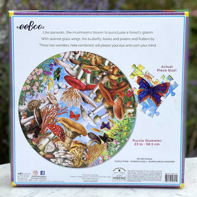 Mushrooms and Butterflies — 500 Piece Puzzle