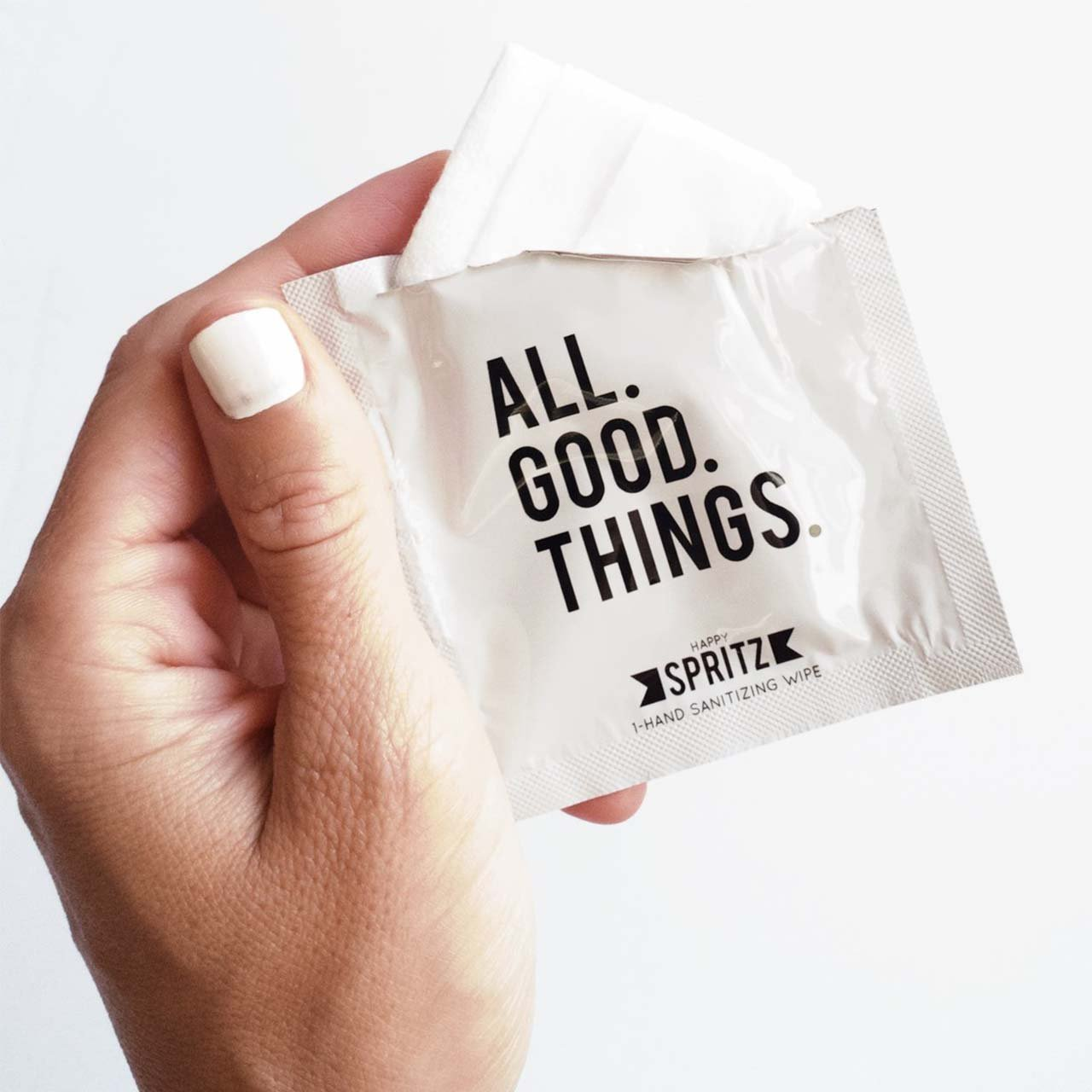 Individual Hand Sanitizing Wipes