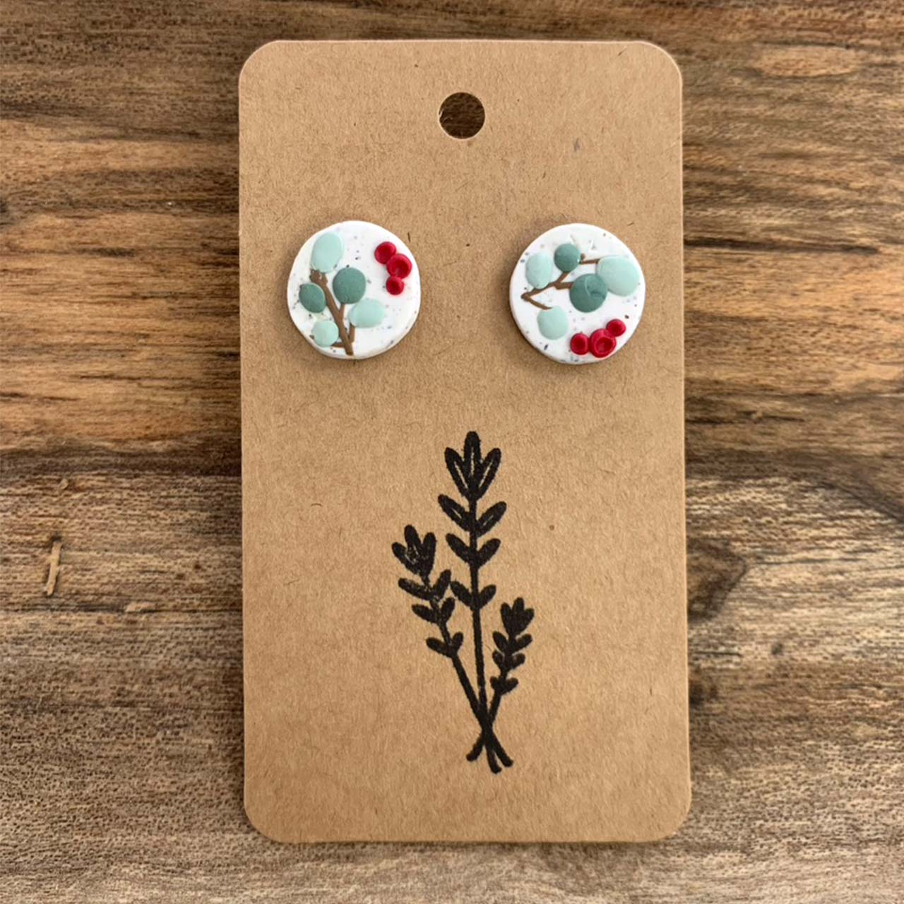 Winter Blossoms Earrings — Studs