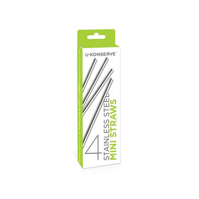 Mini Stainless Steel Straws — 4 pack