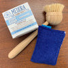 Reusable eco sponges, Mildew Resistant, Washable, Hypoallergenic, and made in the USA. Blue Back