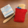 Reusable eco sponges, Mildew Resistant, Washable, Hypoallergenic, and made in the USA. Red back.
