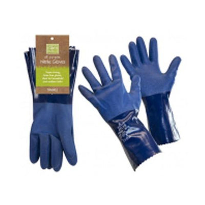 two pair, Blue 100% latex free, nitrile all-purpose gloves