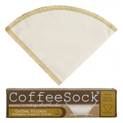 Reusable, organic cotton coffee filter for Vario made in USA.