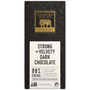 3 oz chocolate bar, strong + velvety dark chocolate with endangered species logo featuring golden elephant
