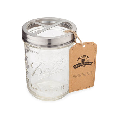 tooth brush holder lid for mason jar (stainless steel)