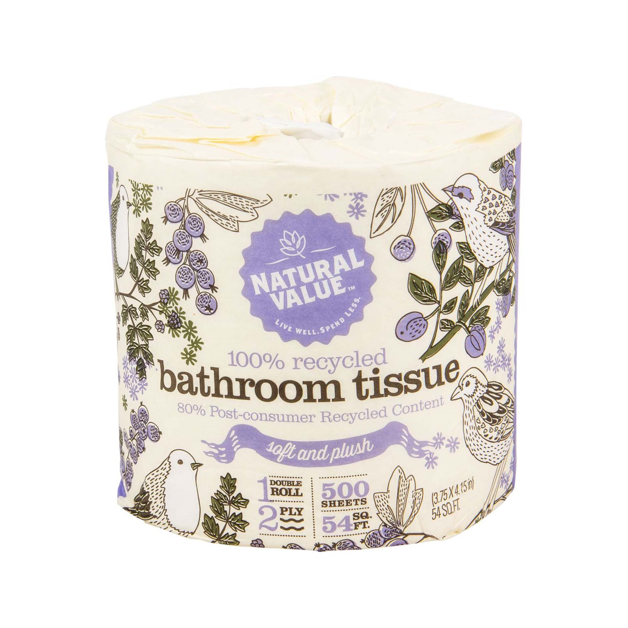 100% Recycled Bathroom Tissue — Natural Value
