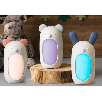 three diffuser shapped like cat, bear, and rabbit (colored red, purple, blue respectively)