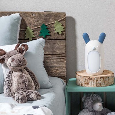 rabbit diffuser on bedside table in forrest themes child bedroom.
