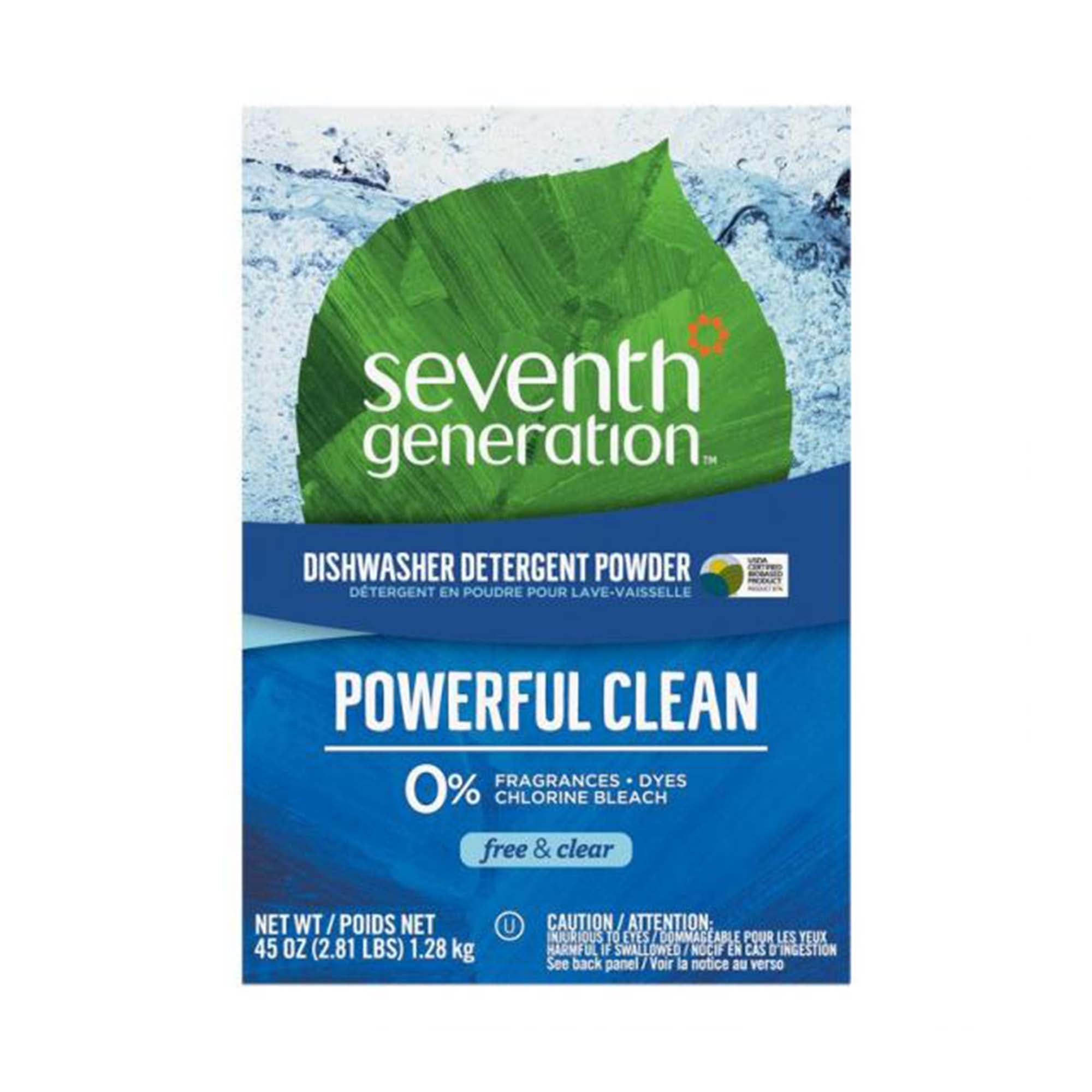 45 oz blue box of seventh generation powerful clean detergent