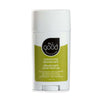 "white roll on deodorant, 2.5oz, green label with black teardrop logo ""all good"""
