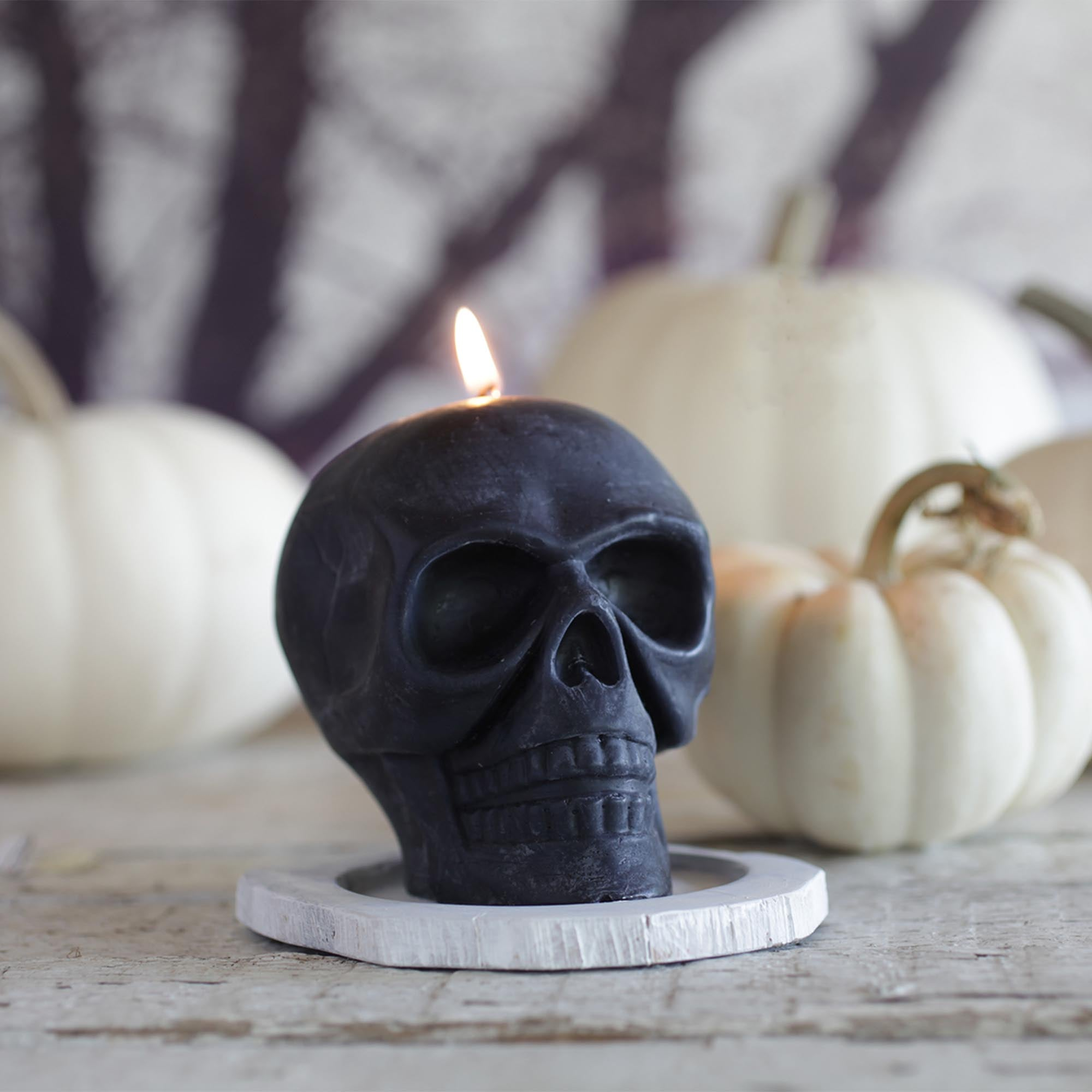 100% Pure Beeswax Skull Candle