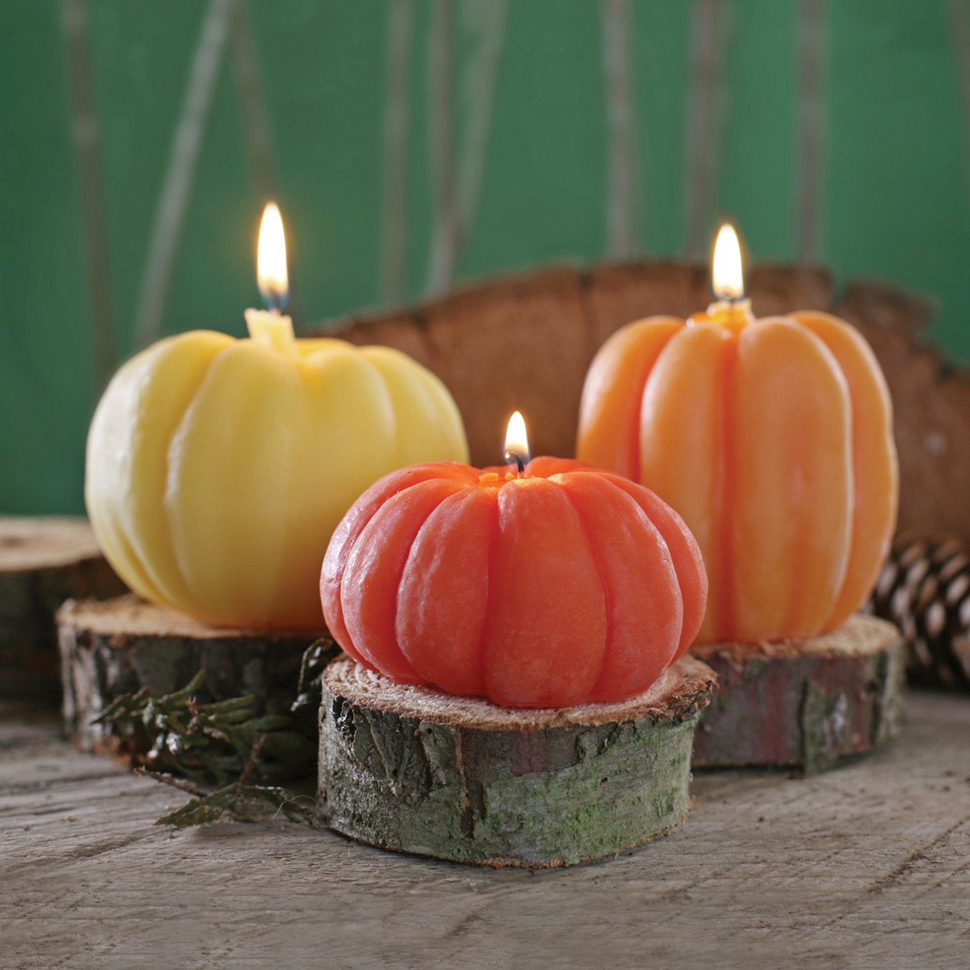 100% Pure Beeswax Pumpkin Candles