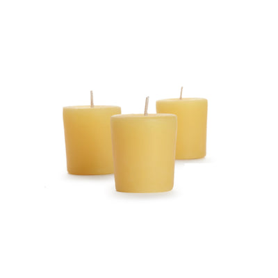 three 100% Pure Beeswax Candles , short