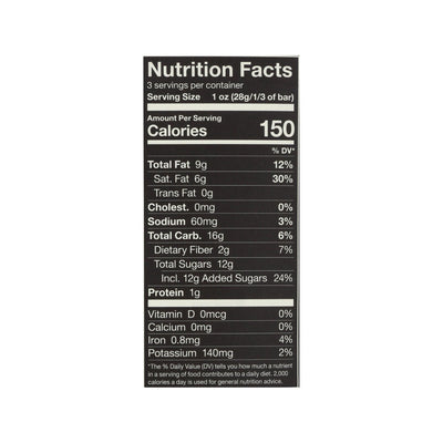 Almonds Sea Salt + Dark Chocolate nutritional facts